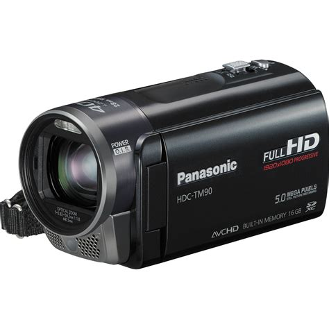 with camcorder panasonic hdc tm90 high definition camcorder hdc tm90k b h
