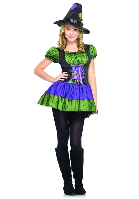 pumpkin costume colorful witch costume