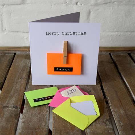 Gift Cards Cash - personalised mini envelope money cash gift card by jg artwork notonthehighstreet com