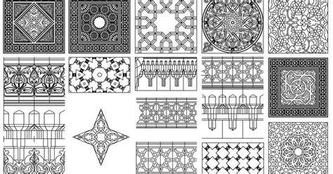 islamic pattern cad file زخارف اسلامية بصيغة الاتوكاد dwg برابط مباشر