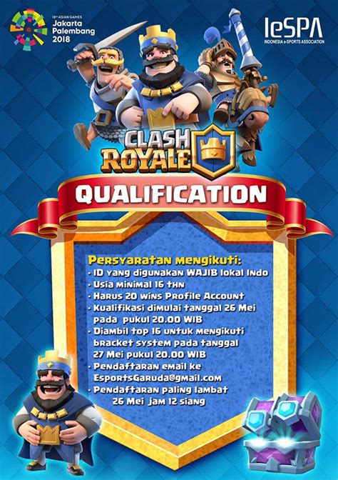 turnamen clash royale kualifikasi asian games