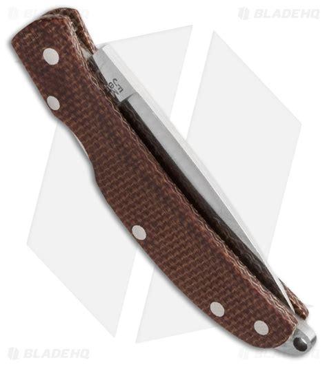ultralight pocket knife al mar osprey ultralight pocket knife brown micarta 1 65