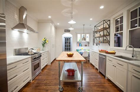 narrow kitchen mobile kitchen islands ideas and inspirations