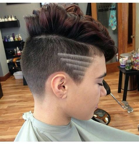 shaved lines in hair 17 best ideas about shaved sides on pinterest short