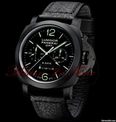 Luminor Panerai Gmt Black Premium panerai quot the black quot pam 317 luminor 1950 chrono monopulsante 8 days gmt 23 895 panerai