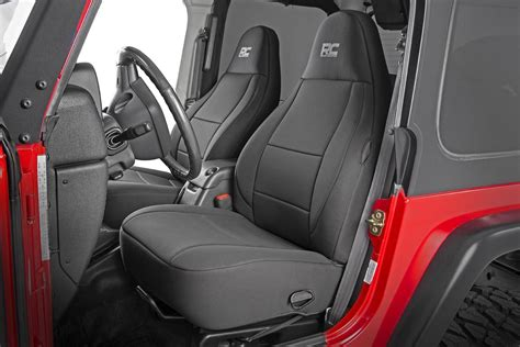 neoprene seat covers for jeep wrangler black neoprene seat cover set for 97 02 jeep wrangler tj