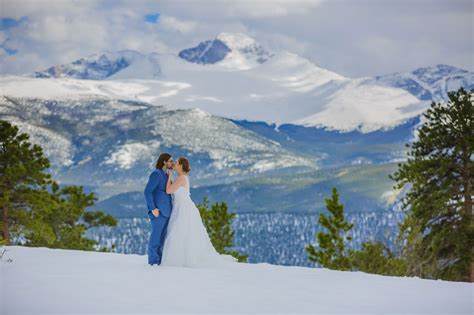 snowy winter elopement  rocky mountain national park