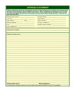 Witness Form Template by Doc 585585 Sle Witness Statement Witness Statement