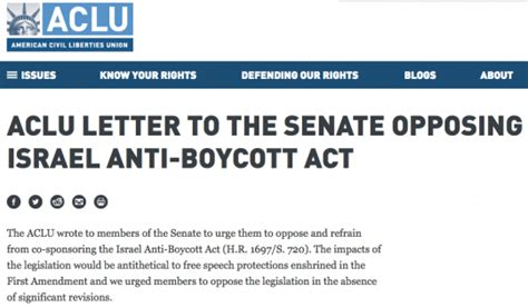 certification letter regarding the boycott with israel 45 us senators support bill that makes it a crime to