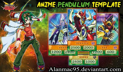 yugioh anime style card template yugioh anime pendulum template by alanmac95 on deviantart
