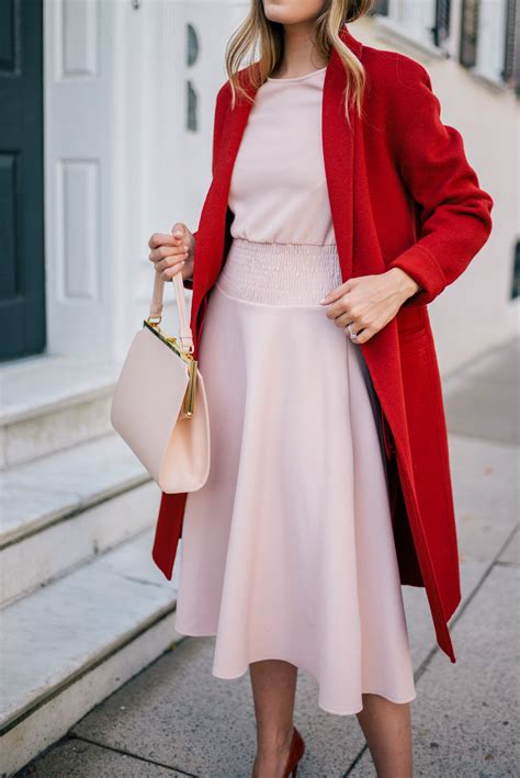 Rot Pink Kombinieren by Blush Pink Dress Coat Gal Meets Glam