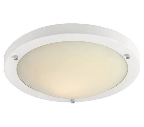 led flush fitting bathroom ceiling light opal glass with chrome ring firstlight rondo led flush fitting ceiling light matt white finish with opal glass 8611wh