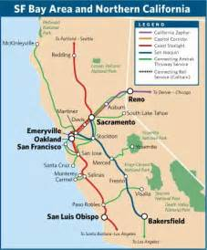 four amtrak routes in the san francisco bay area and