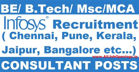 Mba For Diploma Holders In Chennai by Infosys Consultant Openings In Chennai Bangalore Pan