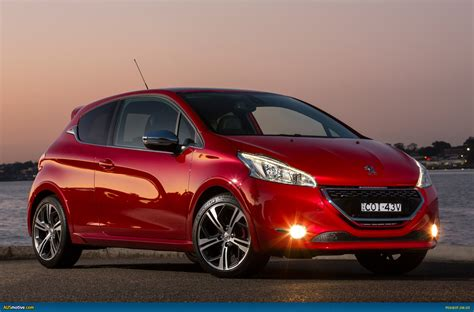 peugeot 208 red ausmotive com 187 peugeot 208 gti australian pricing specs