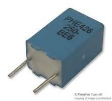 polypropylene capacitor farnell phe426hj6100jr05 kemet capacitor 0 1 181 f 250 v pp polypropylene 177 5 phe426 series