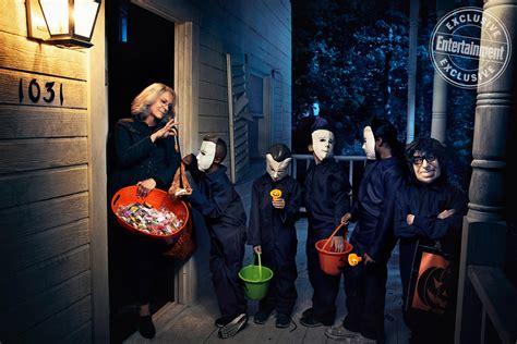 jamie lee curtis in new halloween movie halloween star jamie lee curtis ew cover shoot see the