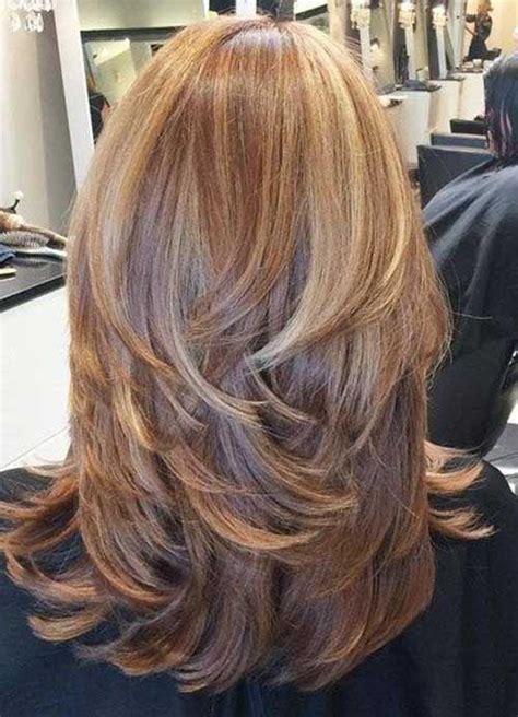 below shoulder with short layers modne włosy 2017 fryzury p 243 łdługie cieniowane