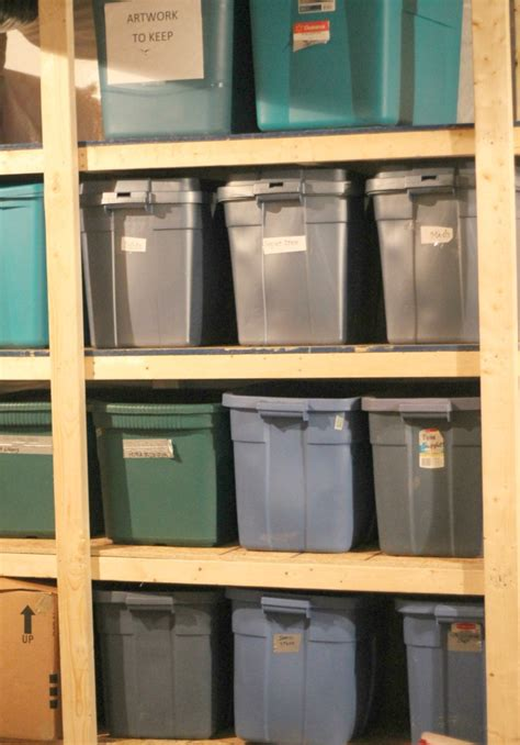 our 70 storage bin shelving part one