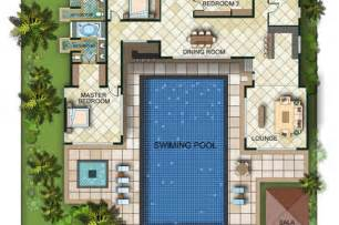 House Plans With Courtyard Pools by U Shaped Courtyard Home Plan With Middle Best Home