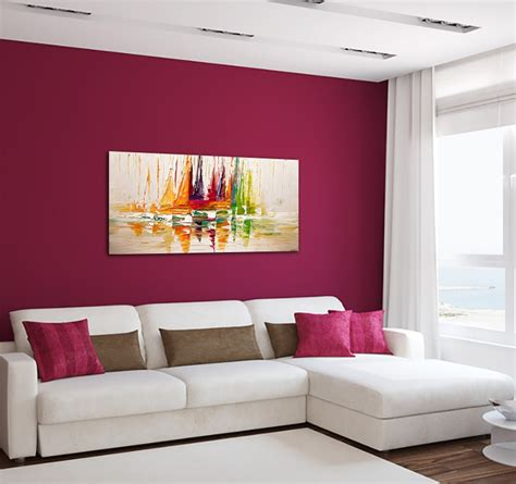 Decoration Murale Design Peinture by Tableau Peinture D 233 Co Voilier Color 233 Artwall And Co