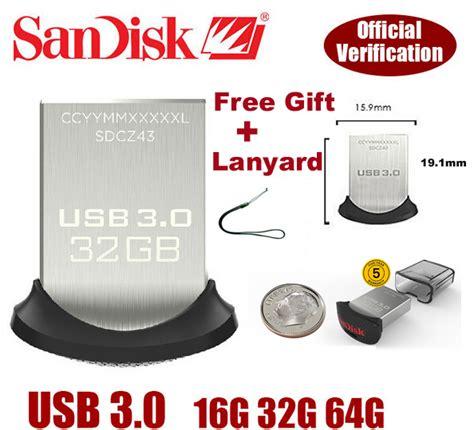 Sandisk Ultra Fit Cz43 32gb Usb 30 Original usb 3 0 sandisk cz43 64gb ultra fit 苣en