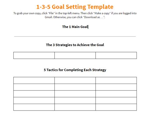 1 3 5 year plan template notes on keller williams 1 3 5 goal setting template