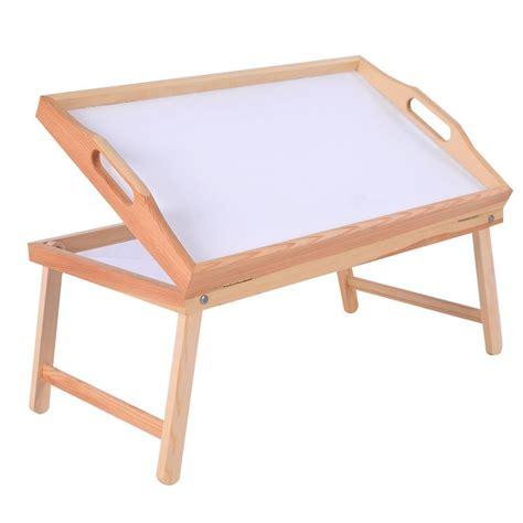 Folding Bed Table Wood Bed Folding Legs Tray Breakfast Laptop Desk Food Serving Hospital Table Ebay