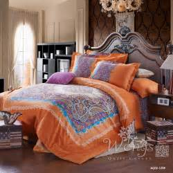 King Size Bedding Orange Compare Prices On Comforter Paisley Shopping Buy