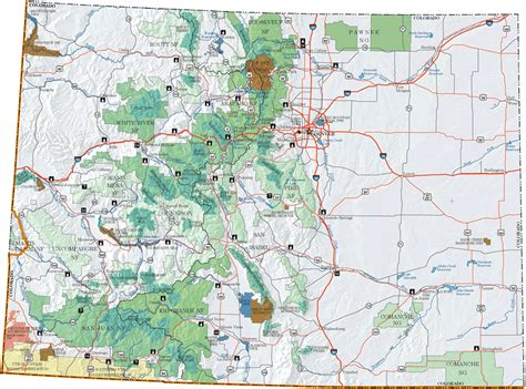 pike national forest map colorado hi speed map