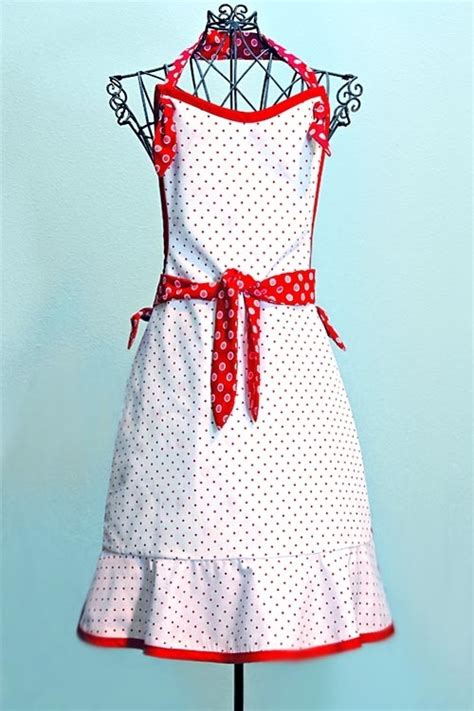 apron pattern cute retro apron diy sewing kitchen aprons pinterest the