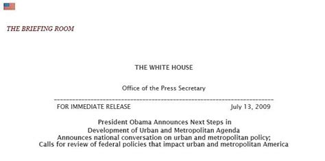 white house press release federal urban and metropolitan agenda and a crashing teleprompter urbanexus