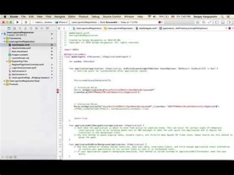 xcode database tutorial for beginners ios login and signup screen tutorial swift xcode 6