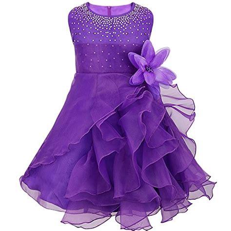 Dress Pricill Kid Purple feeshow baby rhinestone organza flower christening
