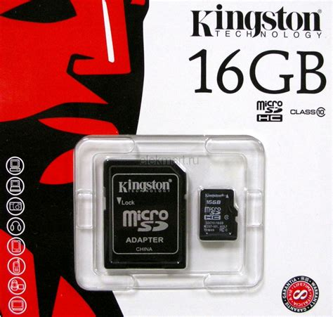 Micro Sd Kingston 16gb Class 10 kingston 16gb micro sdhc class 10 flash card with adaptor