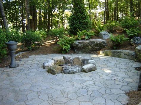 rustic firepit garden ideas