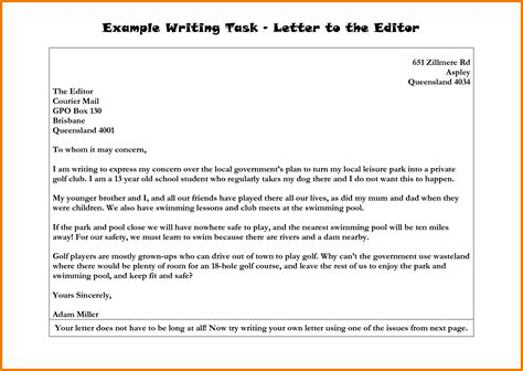 layout of a letter to an editor 9 letter to the editor exle mac resume template