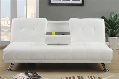 Sofa Beds White Poundex F7029 White Size Leather Sofa Bed A Sofa Furniture Outlet Los Angeles Ca