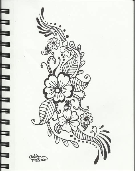 floral pattern design drawing ashevildead66 ashevildead66 blog page 37