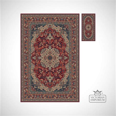 Victorian Rug Style Ro1560 Red Or Navy Rugs Style Rug