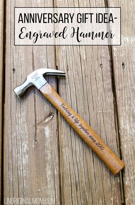 Anniversary Gift Idea   an Engraved Hammer   unOriginal Mom