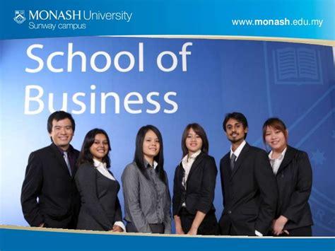 Monash Business School Mba by School Of Business Monash Sunway Cus