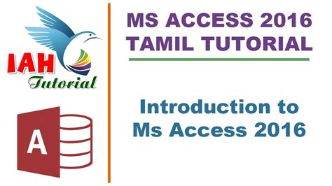 photoshop tutorial in tamil 1 introduction how to 1 introduction to ms access tamil tutorial