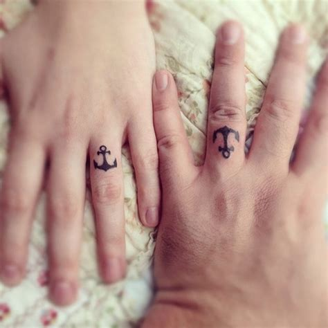 matching ring tattoos for couples amazing instead of a wedding ring