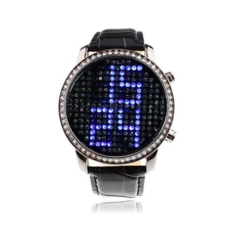 fancy digital with blue led time display