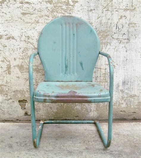 retro lawn chairs retro metal lawn chair teal rustic vintage porch furniture