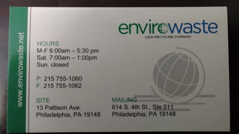 section 8 philadelphia phone number envirowaste recycling center 13 pattison ave