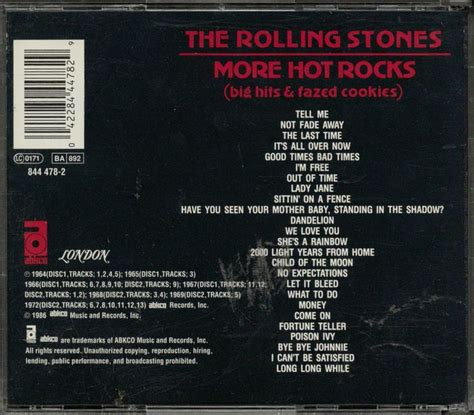 Cd The Rolling Stones More Rocks Big Hits Fazed Cookies the rolling stones more rocks big hits fazed