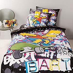 Housse De Couette Tag by Simpsons Parure Housse De Couette Bart Graffiti 240 X 220