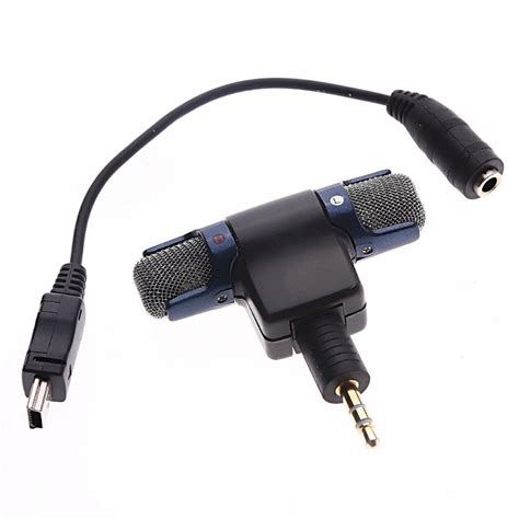Converter Mic To Usb professional condenser stereo st 189 microphone mic mini